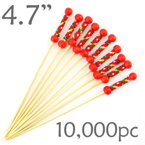 String Picks - 4.7- Red - Case of 10,000 pc