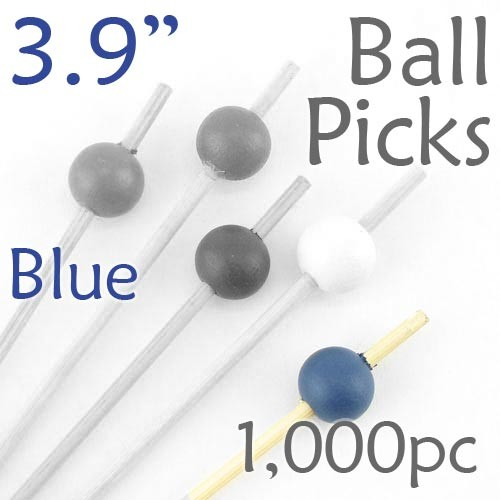 Ball Picks  3.9 Long - Blue - Box of 1000 pc