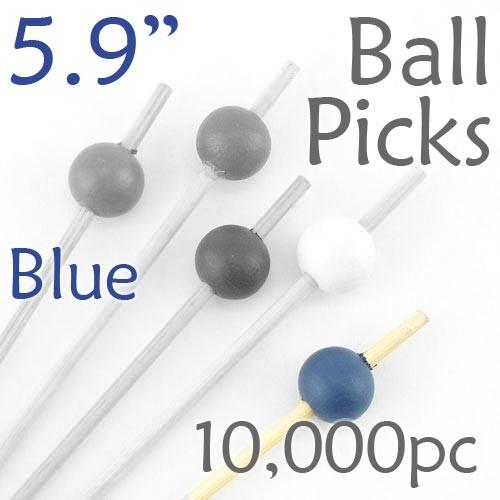 Ball Picks  5.9 Long - Blue - Case of 10,000 pc