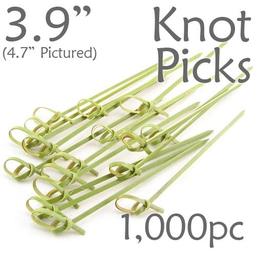 Bamboo Knot Picks 3.9 - Green - box of 1000 Pieces