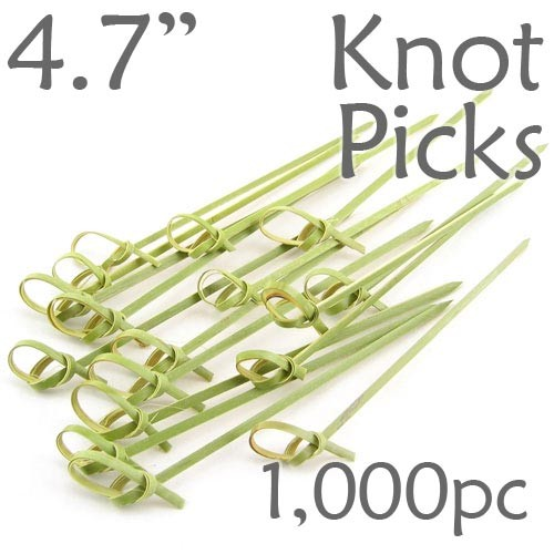 Bamboo Knot Picks 4.7 - Green - box of 1000 Pieces