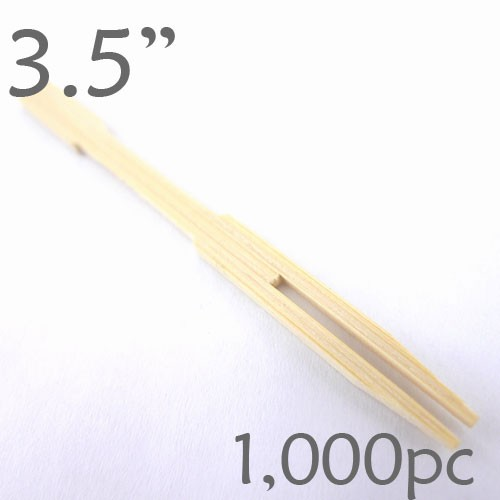 Bamboo Mini Forks 3.5 - box of 1000 Pieces