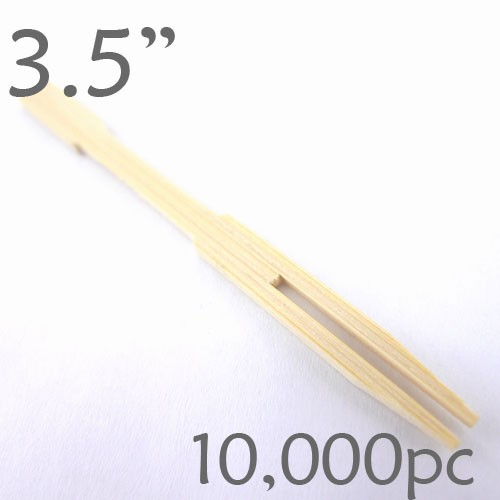 Bamboo Mini Forks 3.5 - Case of 10,000 Pieces