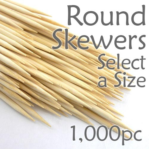 Round Skewers - Box of 1000 (Select a Size)