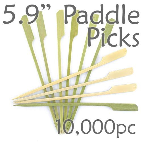 Bamboo Paddle Picks 5.9 - Green - case of 10,000 Pieces