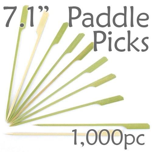 Bamboo Paddle Picks 7.1 - Green - box of 1000 Pieces