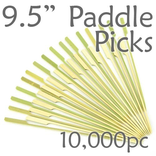 Bamboo Paddle Picks 9.5 - Green - case of 10,000 Pieces