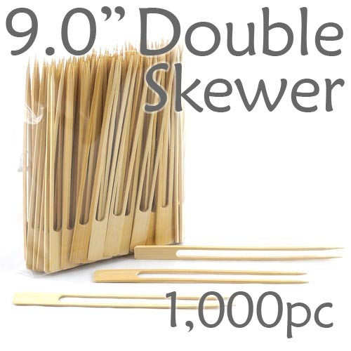 Double Prong 9.0 inch Twin Skewer - 1000pcs