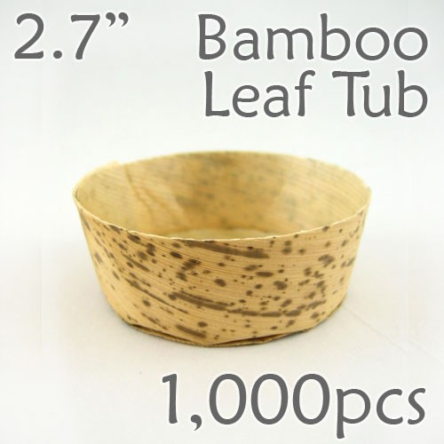 "Bamboo Leaf Round Tub 2.7"" -1000 pc."