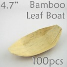 "Bamboo Leaf Boat 4.7"" -100 pc."