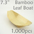 "Bamboo Leaf Boat 7.3"" -1000 pc.-"