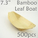 "Bamboo Leaf Boat 7.3"" -500 pc. -"