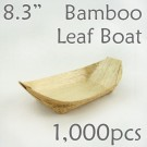 "Bamboo Leaf Boat 8.3"" -1000 pc."