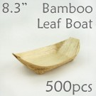 "Bamboo Leaf Boat 8.3"" -500 pc."