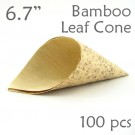 "Bamboo Leaf Cone 6.7"" -100 pc."