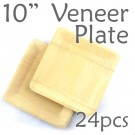 "Disposable Bamboo 10"" Veneer Plate- Square- 24pc"