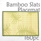 Bamboo Placemat - Fern Imprint - 160pc