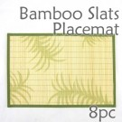 Bamboo Placemat - Fern Imprint - 8pc