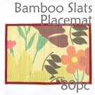 Bamboo Placemat - Red Floral Imprint - 80pc