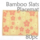 Bamboo Placemat - Peach Blossom Imprint - 80pc