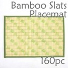 Bamboo Placemat - Green Chick Imprint - 160pc