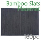 Bamboo Slats Placemat - Black - 160pc