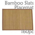Bamboo Slats Placemat - Brown - 160pc