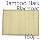 Bamboo Slats Placemat - Natural - 160pc