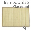 Bamboo Slats Placemat - Natural - 8pc