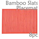 Bamboo Slats Placemat - Red - 8pc