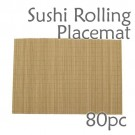 Bamboo Placemat / Sushi Rolling Style - Brown - 80pc
