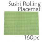 Bamboo Placemat / Sushi Rolling Style - Green - 160pc