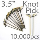 Bamboo Knot Picks 3.5 - Black - Case of 10,000 Pieces