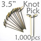 Bamboo Knot Picks 3.5 - Black - box of 1000 Pieces