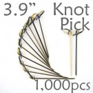 Bamboo Knot Picks 3.9 - Black - box of 1000 Pieces
