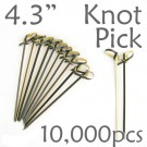 Bamboo Knot Picks 4.3 - Black - Case of 10,000 Pieces