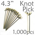 Bamboo Knot Picks 4.3 - Black - box of 1000 Pieces