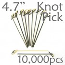 Bamboo Knot Picks 4.7 - Black - Case of 10,000 Pieces