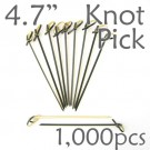 Bamboo Knot Picks 4.7 - Black - box of 1000 Pieces