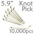 Bamboo Knot Picks 5.9 - Black - Case of 10,000 Pieces
