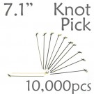 Bamboo Knot Picks 7.1 - Black - case of 10,000 Pieces