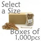 Bamboo Knot Picks - Tea - Box of 1000 pcs (Select a Size)