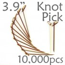 Bamboo Knot Picks 3.9 - Tea - case of 10,000 Pieces