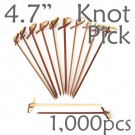 Bamboo Knot Picks 4.7 - Tea - box of 1000 Pieces