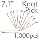 Bamboo Knot Picks 7.1 - Tea - box of 1000 Pieces