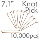 Bamboo Knot Picks 7.1 - Tea - case of 10,000 Pieces