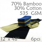 Midweight 70/30 Bamboo Rayon/ Cotton Chef Side Towel 535GSM 6pc Choice of Color