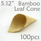 "Bamboo Leaf Cone 5.12"" -100 pc."