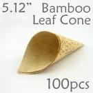 "Bamboo Leaf Cone 5.12"" -100 pc."