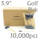 Golf Tee Picks 5.9 Long - Blue - Case of 10,000 pc